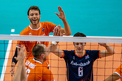Wessel Keemink of Netherlands in action during the CEV Eurovolley 2021 Qualifiers between Croatia and Netherlands at Topsporthall Omnisport on May 16, 2021 in Apeldoorn, Netherlands