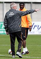 Trainer Sven Goran Eriksson (CIV) mit Kolo Toure (CIV). © Pascal Muller/EQ Images