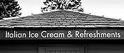Maidenhead, Berkshire UK, 29th June 2021, B&W, The Ice Cream Shack, by Poulters Lock, Maidenhead Riverside, © Pete Spurrier,