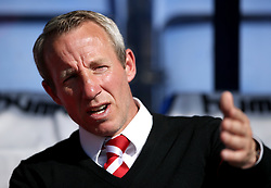 Charlton Athletic caretaker manager Lee Bowyer before the Sky Bet League One play-off second leg match at Montgomery Waters Meadow, Shrewsbury.