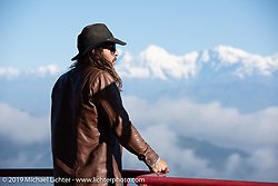 Talk Shop Podcaster Danger Dan at the Everest Panorama Resort on Motorcycle Sherpa's Ride to the Heavens motorcycle adventure in the Himalayas of Nepal. Riding from Daman back to Kathmandu. Wednesday, November 13, 2019. Photography ©2019 Michael Lichter.