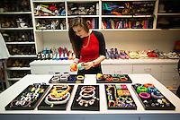 Feb. 1, 2013 - New York - Teen Vogue's Fashion Closet in the magazine's New York office. ..Photo by Robert Caplin.©Robert Caplin.