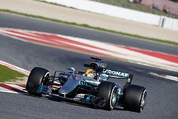 February 27, 2017 - Barcelona, Spain - Motorsports: FIA Formula One World Championship 2017, Test in Barcelona,.#44 Lewis Hamilton (GBR, Mercedes AMG Petronas) (Credit Image: © Hoch Zwei via ZUMA Wire)