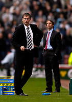 Photo: Jed Wee.<br /> Middlesbrough v Newcastle United. The Barclays Premiership. 22/10/2006.<br /> <br /> Newcastle manager Glenn Roeder (L) with Middlesbrough manager Gareth Southgate.