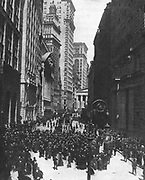 Crowds outside the Stock Exchange, New York, after the Wall Street Crash, October 1929.  Stock Market