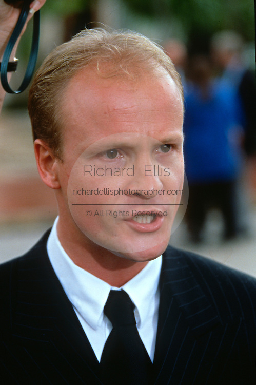 Thomas Trautmann, spokesman for murdered designer Gianni Versace July 19, 1997 in Miami, FL.  Versace was murdered outside his Miami Beach home at the age of 50 by spree killer Andrew Cunanan.