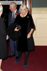 The Prince of Wales and Duchess of Cornwall attend the annual Royal British Legion Festival of Remembrance at the Royal Albert Hall in Kensington, London.