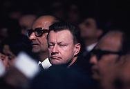 Zbigniew Brezezinski in audience as President Carter speaks to parliment in India on January 1, 1978<br /> Photo by Dennis Brack