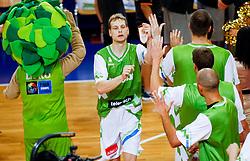 Jaka Blazic during friendly match between National teams of Slovenia and Ukraine for Eurobasket 2013 on July 26, 2013 in Dvorana Komunalnega centra, Domzale, Slovenia. Slovenia defeated Ukraine 74-46. (Photo by Vid Ponikvar / Sportida.com)