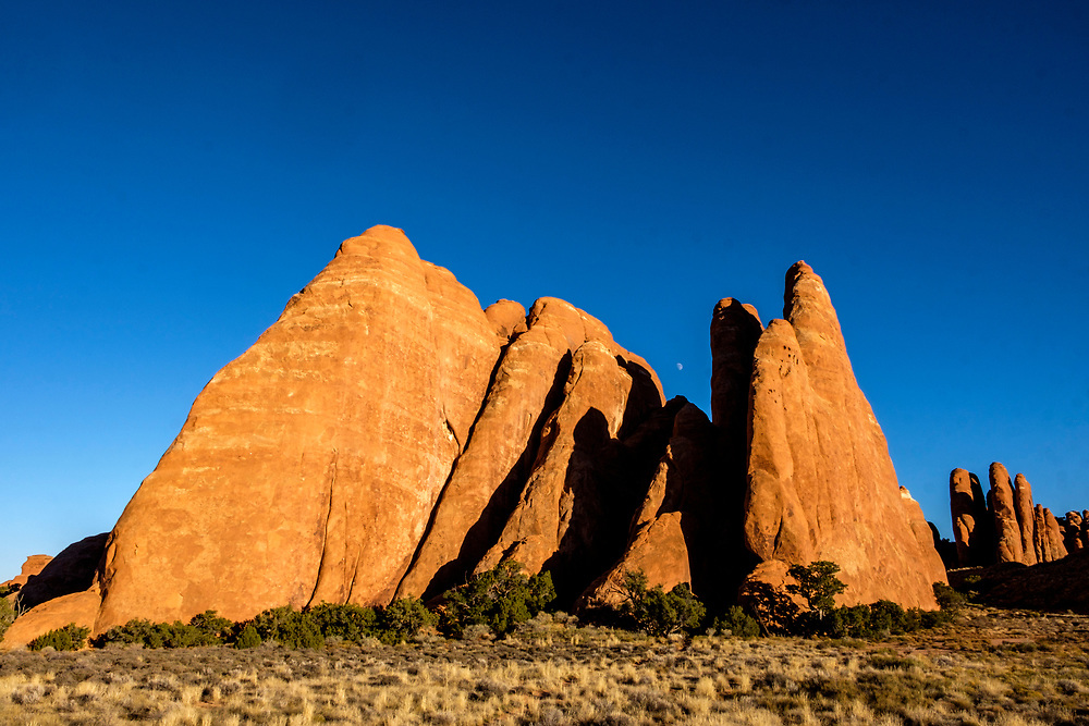 Fins of sandstone near Sand Arch.