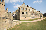 Bolsover Castle, Derbyshire, England built by Sir Charles Cavendish in 1612 showing  the Terrace Range walls.