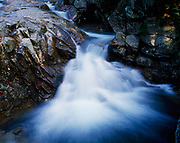 Small waterfall on the Pemigewasset River, The Basin, Franconia Notch State Park, New Hampshire.
