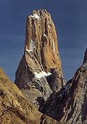 Un-named Tower, Trango Group, from Baltoro glacier, Karakoram mountains, Pakistan