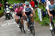 Christopher Froome (GBR - Team Sky) - Simon Yates (GBR - Mitchelton - Scott) pink leader jersey during the 101th Tour of Italy, Giro d'Italia 2018, stage 14, San Vito Al Tagliamento - Monte Zoncolan 181 km on May 19, 2018 in Italy - Photo Luca Bettini / BettiniPhoto / ProSportsImages / DPPI