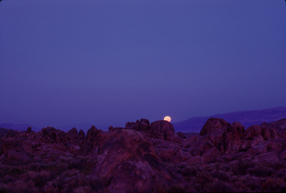 Rising Moon, Alabama Hills, California