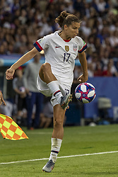 June 28, 2019 - Le Havre, França - LE HAVRE, SM - 28.06.2019: NORWAY VS ENGLAND - Tobin Heath of the United States during a match between England and Norway. World Cup Qualification Football. FIFA. Held at the Oceane Stadium in Le Havre, France  (Credit Image: © Richard Callis/Fotoarena via ZUMA Press)