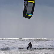 Cornish white water Kite Surfing