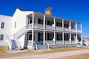 "The colonial style officer's residence at Fort Laramie known as ""Old Bedlam"", Fort Laramie National Historic Site, Wyoming"
