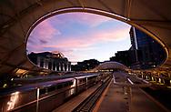 A train arrives at Denver's Union Station at sunset in downtown Denver, Colorado U.S. November 1, 2017. REUTERS/Rick Wilking