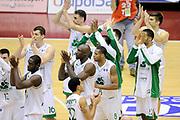 DESCRIZIONE : Milano Coppa Italia Final Eight 2014 Quarti Montepaschi Siena Acea Virtus Roma<br /> GIOCATORE : Montepaschi Siena<br /> CATEGORIA : post game esultanza mani<br /> SQUADRA : Montepaschi Siena<br /> EVENTO : Beko Coppa Italia Final Eight 2014 <br /> GARA : Montepaschi Siena Acea Virtus Roma<br /> DATA : 07/02/2014 <br /> SPORT : Pallacanestro <br /> AUTORE : Agenzia Ciamillo-Castoria/N.Dalla Mura<br /> GALLERIA : Lega Basket Final Eight Coppa Italia 2014 <br /> FOTONOTIZIA : Milano Coppa Italia Final Eight 2014 Quarti Montepaschi Siena Acea Virtus Roma