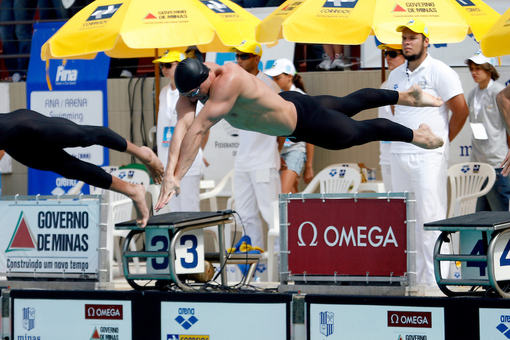 Belo Horizonte_MG, Brasil...Copa do Mundo de Natacao 2007. Na foto a prova 100m Livres...Swimming World Cup 2007. In this photo 100m freestyle...Foto: LEO DRUMOND /  NITRO