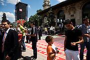 After Friday prayer in Skenderbeg Square