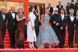 """Penelope Cruz and cast of the movie arrive for the screening of """"Pain And Glory"""" during the 72nd annual Cannes Film Festival on May 17, 2019 in Cannes, France. Photo by Ammar Abd Rabbo/ABACAPRESS.COM"""