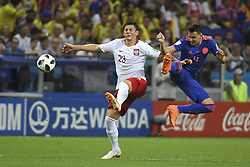 June 25, 2018 - Kazan, Russia - Dawid Kownacki of Poland and Santiago Arias of Colombia during the 2018 FIFA World Cup Group H match between Poland and Colombia at Kazan Arena in Kazan, Russia on June 24, 2018  (Credit Image: © Andrew Surma/NurPhoto via ZUMA Press)