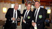 TEXEL - De Cocksdorp - Pieter Landman, Eric Korver  en Ger Laan.   Golfbaan De Texelse. COPYRIGHT KOEN SUYK