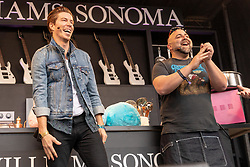 May 25, 2018 - Napa, California, U.S - DUFF GOLDMAN and SHAUN WHITE on the Culinary Stage during BottleRock Music Festival at Napa Valley Expo in Napa, California (Credit Image: © Daniel DeSlover via ZUMA Wire)