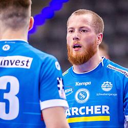 Patrick Zieker (TVB Stuttgart #25) ; Viggo Kristjansson (TVB Stuttgart #73) ; 1. Handball-Bundesliga, HBL: TVB Stuttgart - HSC 2000 Coburg am 06.02.2021 in Stuttgart (PORSCHE Arena), Baden-Wuerttemberg<br /> <br /> Foto © PIX-Sportfotos *** Foto ist honorarpflichtig! *** Auf Anfrage in hoeherer Qualitaet/Aufloesung. Belegexemplar erbeten. Veroeffentlichung ausschliesslich fuer journalistisch-publizistische Zwecke. For editorial use only.