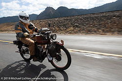 Kevin Naser riding his 1916 Indian Powerplus in the Motorcycle Cannonball coast to coast vintage run. Stage 15  (51 miles - the Grand Finish) from The Dalles to Stevenson, OR. Sunday September 23, 2018. Photography ©2018 Michael Lichter.
