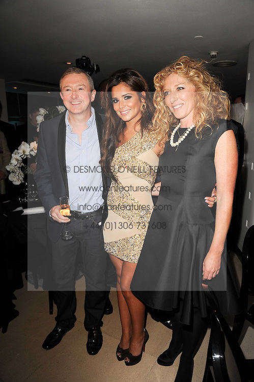 CHERYL COLE ,LOUIS WALSH and KELLY HOPPEN at the launch party for 'Promise', a new capsule ring collection created by Cheryl Cole and de Grisogono held at Nobu, Park Lane, London on 29th September 2010.