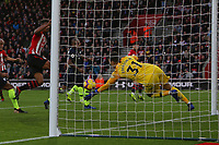 Football - 2018 / 2019 Premier League - Southampton vs. Manchester City<br /> <br /> Southampton's Charlie Austin fails to control the ball when through on goal at St Mary's Stadium Southampton<br /> <br /> COLORSPORT/SHAUN BOGGUST