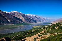 Tadjikistan, Asie centrale, Gorno Badakhshan, Haut Badakhshan, le Pamir, vallée du Wakhan, la rivière Panj sépare le Tadjikistan et l'Afghanistan // Tajikistan, Central Asia, Gorno Badakhshan, the Pamir, Wakhan valley, Panj river between Tajikistan and Afghanistan