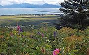 Alaska, Homer, View of the Homer Spit and Kachemak Bay in summer