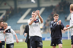 Falkirk's David McCracken at the end.<br /> Dundee 0 v 1 Falkirk, Scottish Championship game played today at Dundee's Dens Park.<br /> © Michael Schofield.