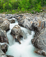 The Johnson's Shut-Ins are found on the Black River of Missouri. A shut-in is where the river splits into channels as it flows in between hard rock that is resistant to erosion. In 2005, a broken dam flooded this area and caused extensive damage. It took 4 years to rebuild the state park facilities and restore the areas damaged by the flood.<br /> <br /> Date Taken: May 7, 2014