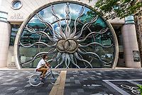 The Oike Koto Building in Kyoto - a coty that is usually known for its exquisite traditional architecture but since the opening of the new Kyoto Station, architects and designers have become much more adventurous and creative in designing quirky, unusual and innnovative buildings.