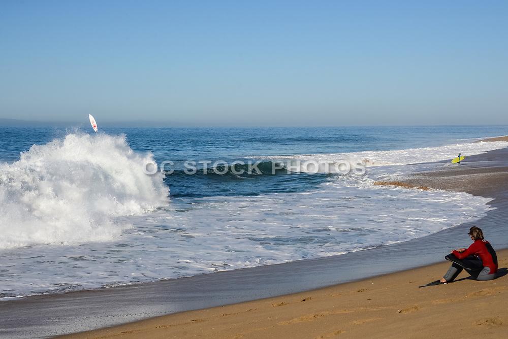 The Wedge Surf Spot in Newport Beach California