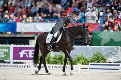 Morgan Barbancon Mestre, (ESP), Painted Black - Freestyle Grand Prix Dressage - Alltech FEI World Equestrian Games™ 2014 - Normandy, France.<br /> © Hippo Foto Team - Jon Stroud<br /> 25/06/14