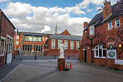 © Licensed to London News Pictures. 02/03/2020. London, UK. Wimbledon College in Wimbledon Village, which was shut over a week ago after a member of staff contracted Coronavirus (COVID-19) still remains closed as fears of a pandemic increase after 4 new cases of Coronavirus are confirmed in the UK. Photo credit: Alex Lentati/LNP