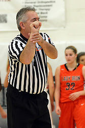 20 November 2015: Calling the hold, Rich Caccatori. Normal Community Lady Ironmen v Bloomington Central Catholic Lady Saints at Girls Intercity in the gym at Normal Community West in Normal IL