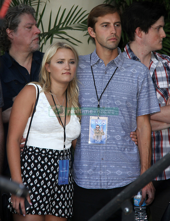 Ringo Starrcelebrated his birthday with family, friends, and fans for a #PeaceAndLove salute atNoon at The Capital Records Tower in Hollywood, California on 7/7/17. 07 Jul 2017 Pictured: Emily Osment. Photo credit: River / MEGA TheMegaAgency.com +1 888 505 6342