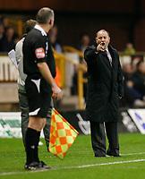 Photo: Steve Bond/Sportsbeat Images.<br /> Wolverhampton Wanderers v Bristol City. Coca Cola Championship. 03/11/2007. Gary Johnson disagrees with the linsman