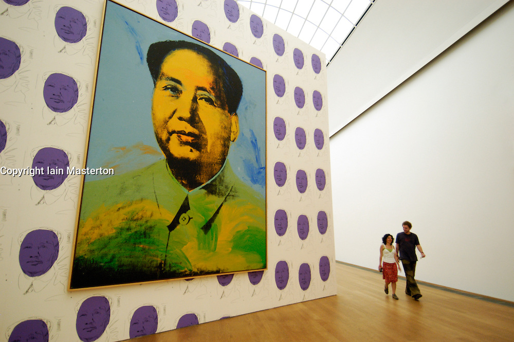 Mao painting by Andy Warhol at Hamburger Bahnhof modern art gallery in Berlin