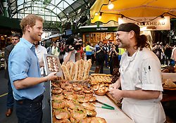 Prince Harry visits Borough Market, which opened yesterday for the first time since the London Bridge terrorist attack in London, UK, on the 15th June 2017. Picture by John Stillwell/WPA-Pool. 15 Jun 2017 Pictured: Prince Harry. Photo credit: MEGA TheMegaAgency.com +1 888 505 6342