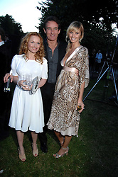 Left to right, GERI HALLIWELL, TIM JEFFERIES and MALIN JOHNANSSON at the annual Serpentine Gallery Summer Party in association with Swarovski held at the gallery, Kensington Gardens, London on 11th July 2007.<br /><br />NON EXCLUSIVE - WORLD RIGHTS