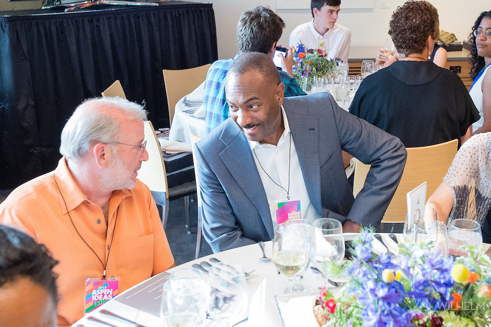 Corby Kummer and Booz Allen Hamilton host the Meal of a Lifetime at the 2015 Aspen Ideas Festival in Aspen, CO. ©Brett Wilhelm