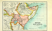Map of British East Africa From the Book '  Britain across the seas : Africa : a history and description of the British Empire in Africa ' by Johnston, Harry Hamilton, Sir, 1858-1927 Published in 1910 in London by National Society's Depository